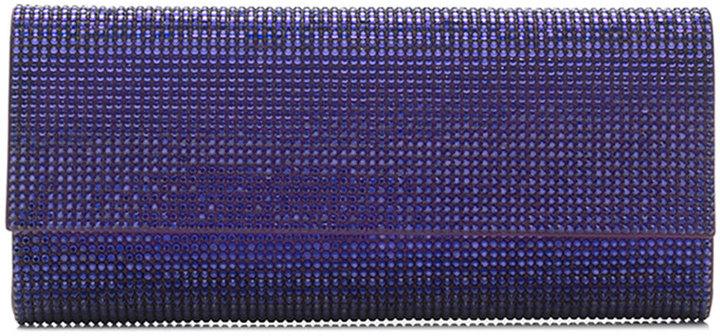 Judith Leiber Couture Ritz Fizz Crystal Clutch Bag, Silver Plum