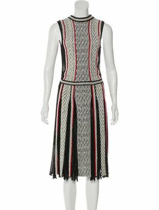 Oscar de la Renta 2017 Sleeveless Knit Dress Black