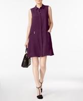 Alfani Petite Zip-Pocket Shirtdress, Created for Macy's