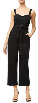 Good American Belted Button-Front Jumpsuit
