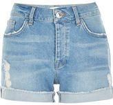 River Island Womens Light blue wash boyfriend denim shorts