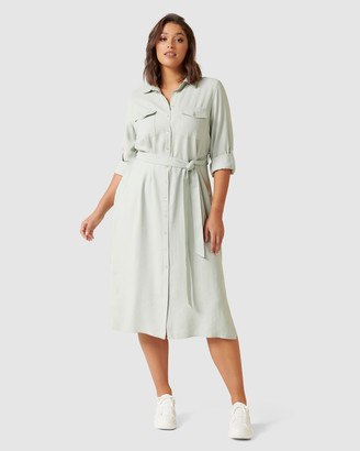Forever New Curve - Women's Shirt Dresses - Rory Curve Maxi Shirt Dress - Size One Size, 16 at The Iconic