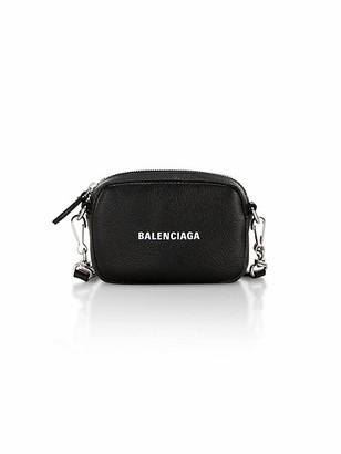 Balenciaga Mini Cash Leather Crossbody Pouch