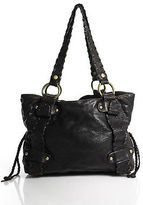 Kooba Brown Leather Solid Print Double Handle Shoulder Handbag Size Medium