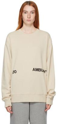Ambush Beige Logo Crewneck Sweatshirt