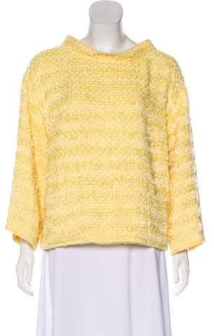Chanel Tweed Polka Dot Top