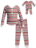 Dollie & Me Girls 4-14 Striped Henley Top & Bottoms Pajama Set