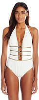 Gottex Women's Crystal Clear Deep Halter One Piece Swimsuit