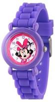 Disney Girls' Minnie Mouse Purple Plastic Time Teacher Watch - Purple