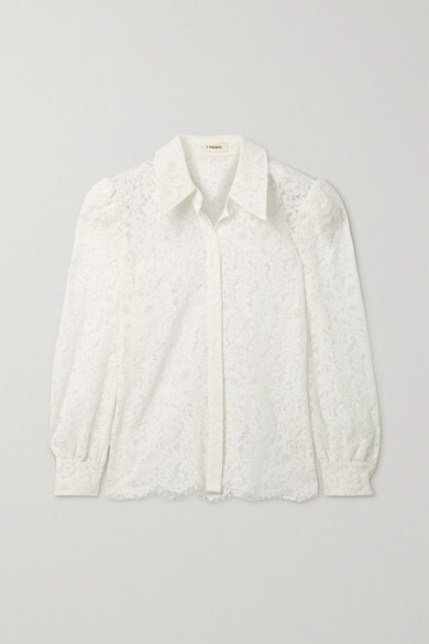 Thumbnail for your product : L'Agence Jenica Corded Lace Blouse - Ivory
