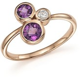 Bloomingdale's Diamond and Amethyst Three Stone Ring in 14K Rose Gold