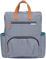 Diaper Bag Backpack by Kute 'n' Koo – Fashion and Function in One Bag – Designed in NYC – Matching Changing Pad - Water Resistance and Wipeable Surface- and Much More