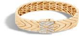 John Hardy Women's Modern Chain 11MM Bracelet in 18K Gold with Diamonds