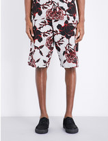 McQ by Alexander McQueen Floral-print cotton-jersey shorts