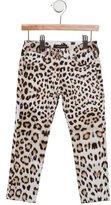 Roberto Cavalli Girls' Leopard Print Straight-Leg Pants w/ Tags