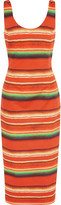 Stella Jean Striped cotton-poplin midi dress