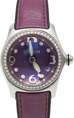 Corum Bubble Purple Stainless Steel Diamond Women's Watch 35MM