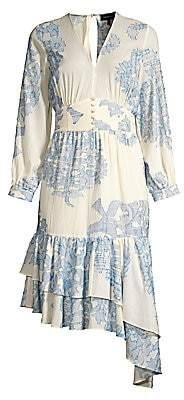 Robert Rodriguez Women's Paisley Floral Cotton Dress