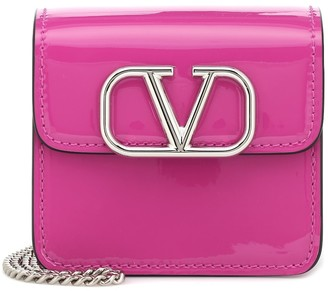 Valentino VSLING patent leather clutch