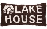 Lodge Hook Rectangle Lake House Throw Pillow in Brown/White