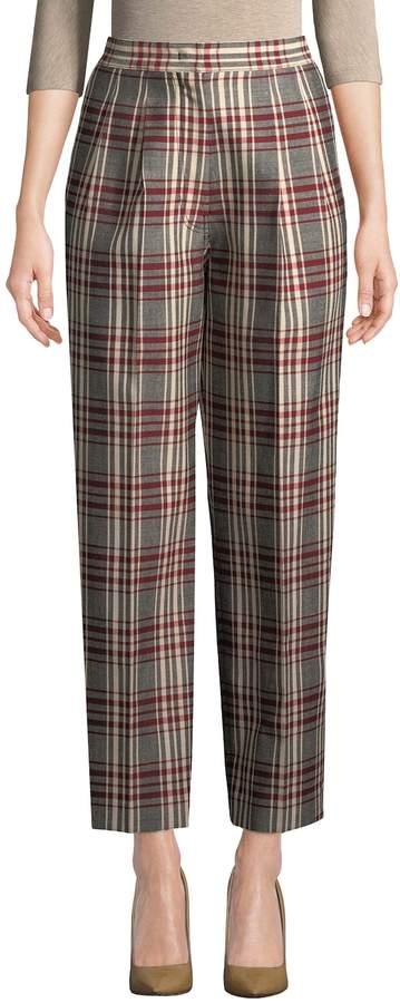 Derek Lam Women's Plaid Pleated Trousers