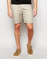 Asos Skinny Chino Shorts In Light Stone