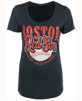 5th & Ocean Women's Boston Red Sox Fast Pitch Scoop T-Shirt