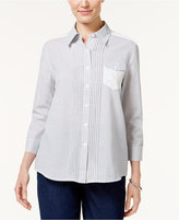 Alfred Dunner Uptown Girl Pleated Shirt