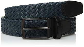 Bugatchi Men's Braided Fashion Leather Belt