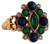 Amrapali 18K Emerald, Sapphire & Diamond Ring