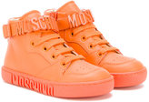 Moschino Kids - straped hi-top sneakers - kids - Leather/rubber - 26