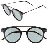 Fendi Men's 49Mm Mirrored Retro Sunglasses - Black