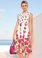 Kaleidoscope Bloom Empire Line Scuba Dress