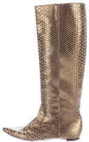 Devi Kroell Python Knee-High Boots