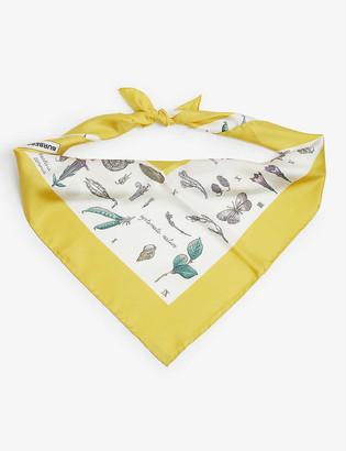 Burberry Botanical flowers silk scarf