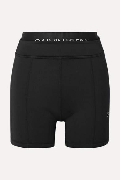 Calvin Klein Printed Stretch Shorts - Black
