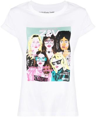 Zadig & Voltaire logo graphic print T-shirt