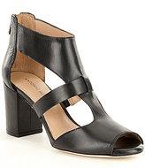 Antonio Melani Skarly Leather Peep-Toe Block Heel Pumps