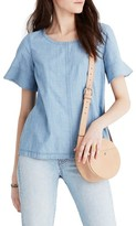Madewell Women's Chambray Tie Back Top
