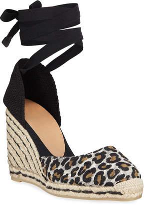 Castaner Carina Leopard Wedge Espadrille Sandals