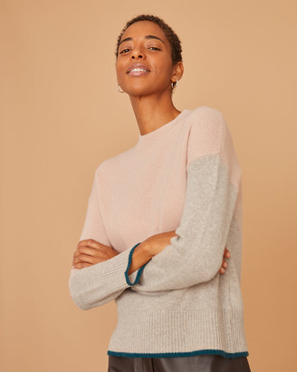 Jigsaw Cashmere Colour Block Jumper