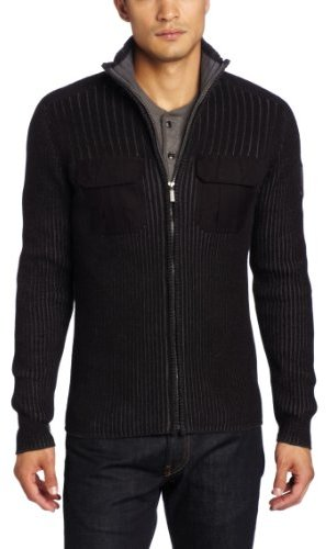 Calvin Klein Jeans Men's Military Full Zip Sweater