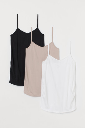 H&M MAMA 3-pack Camisole Tops
