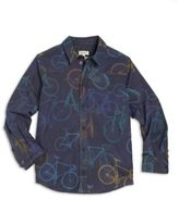 Paul Smith Toddler's, Little Boy's & Boy's Bicycle-Print Button-Front Shirt