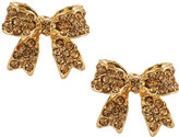 Greenbeads by Emily & Ashley Pave Crystal Bow Stud Earrings, Gold