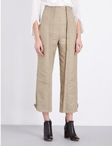 Chloé Military cotton trousers