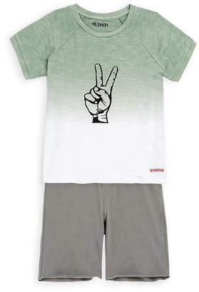 Hudson Jeans 2Pc T-Shirt And Short Set
