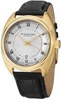 Stuhrling Original Men's 728.03 Symphony Aristocrat Twenty Swiss Quartz Date Gold Tone Watch
