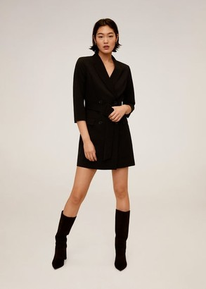 MANGO Belt wrap dress black - 2 - Women