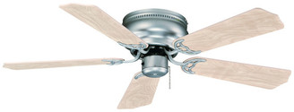 "Royal Pacific Ltd Flush Mount 42"" Ceiling Fan, Brushed Nickel, Natural Maple Blades"